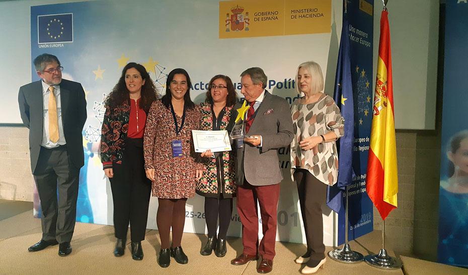 Los artífices del proyecto recogieron el premio en el Acto Anual de Política Regional y Fondos Europeos.