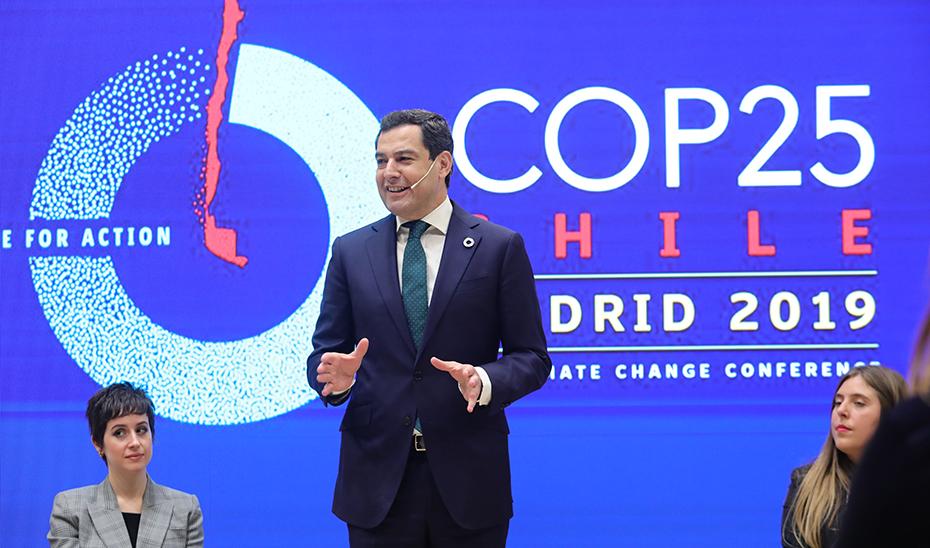Moreno afirma que Andalucía liderará la lucha contra el cambio climático