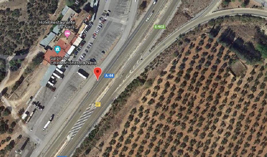 Imagen de satélite del lugar en el que se ha producido el atropello.