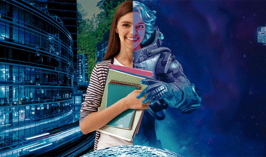 Cartel anunciador del concurso tecnológico \u0027La partida ha comenzado: Haz TIC en tu futuro\u0027.