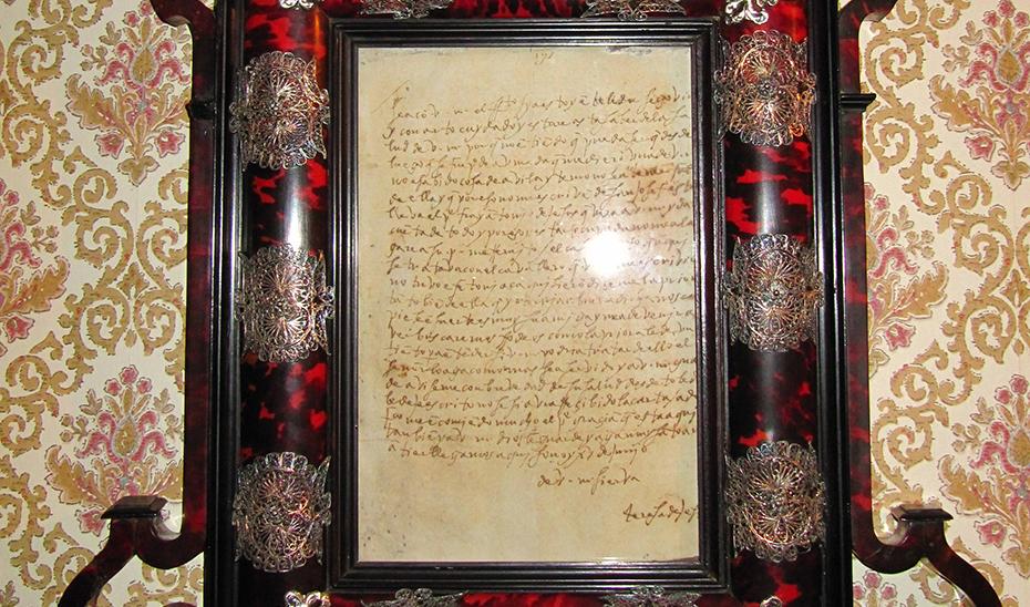 Carta de Santa Teresa, una de las joyas del convento de Sanlúcar de Barrameda, declarado hoy BIC.