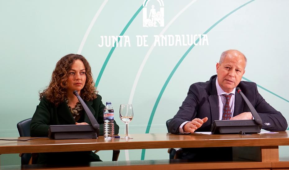 El consejero de Educación y Deportes, Javier Imbroda, en rueda de prensa.