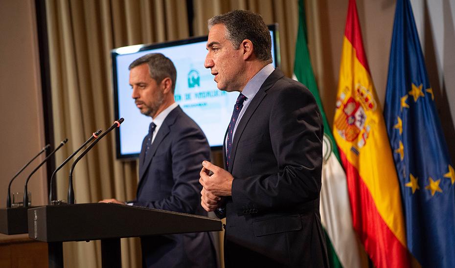 Bendodo informa sobre la liquidación de las UTEDLT y el Consorcio Guadalquivir