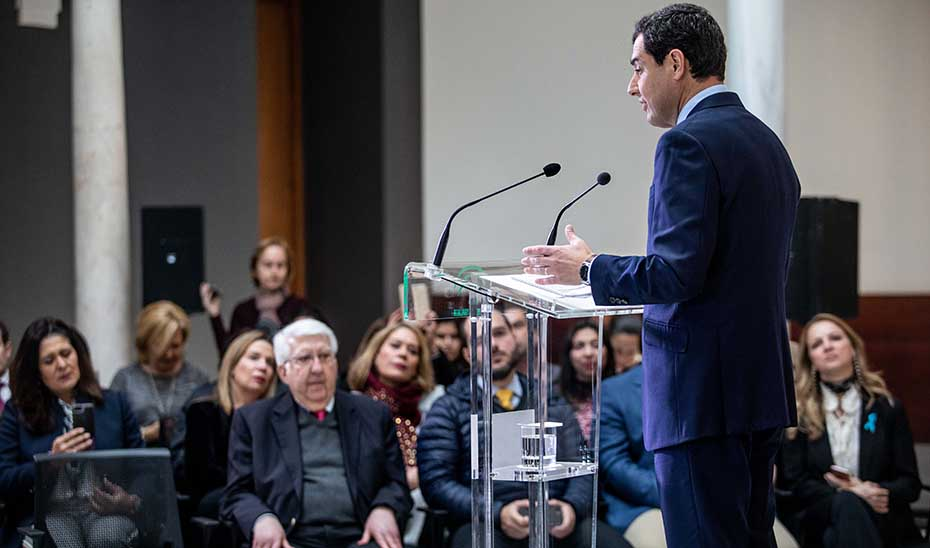 Intervención del presidente de la Junta tras la reunión con asociaciones venezolanas en Andalucía