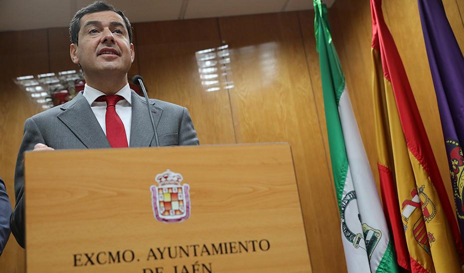 Intervención del presidente de la Junta en el Ayuntamiento de Jaén
