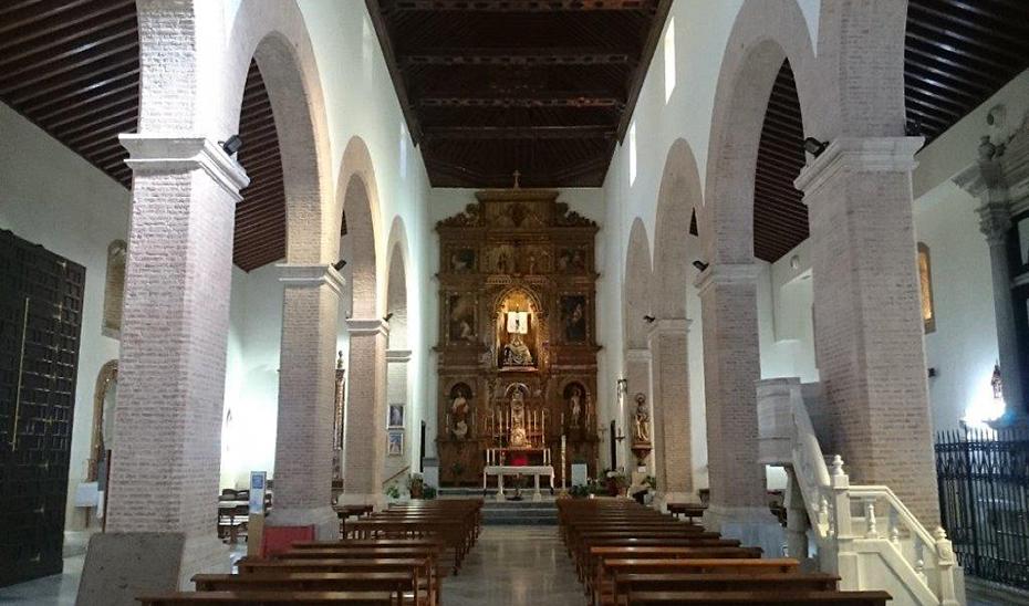 Vista interior de la iglesia de Nuestra Señora de la Encarnación, en Tabernas (Almería).