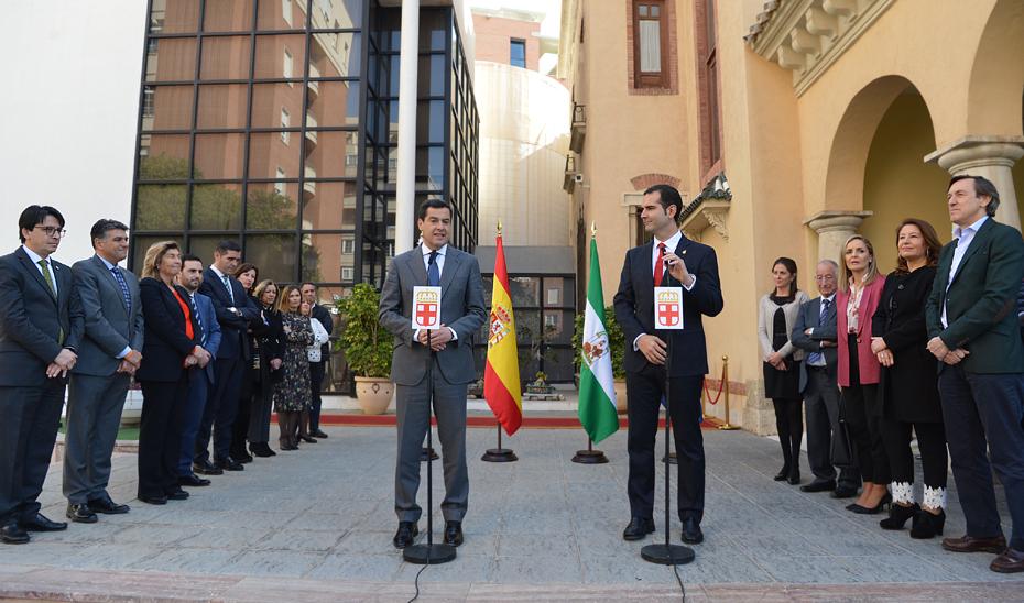 Intervención del presidente de la Junta en el Ayuntamiento de Almería