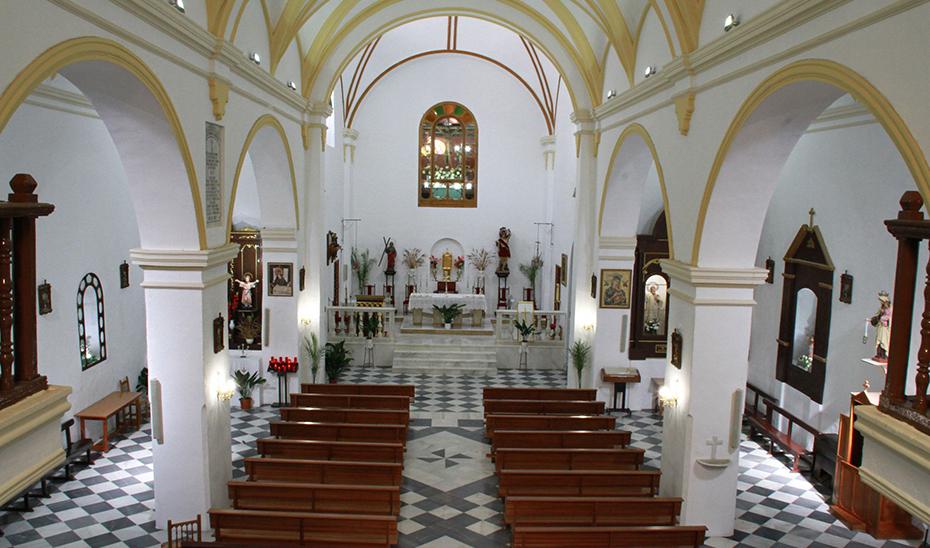 Interior de la iglesia parroquial.