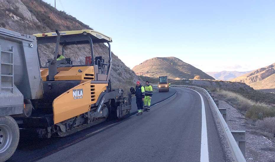 Obras en carreteras.