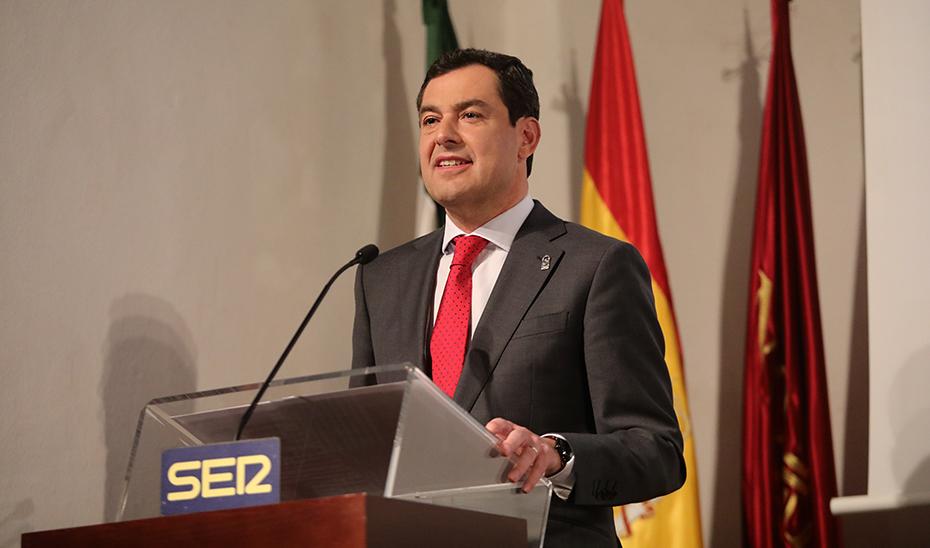 El presidente de la Junta, durante su intervención en la presentación.