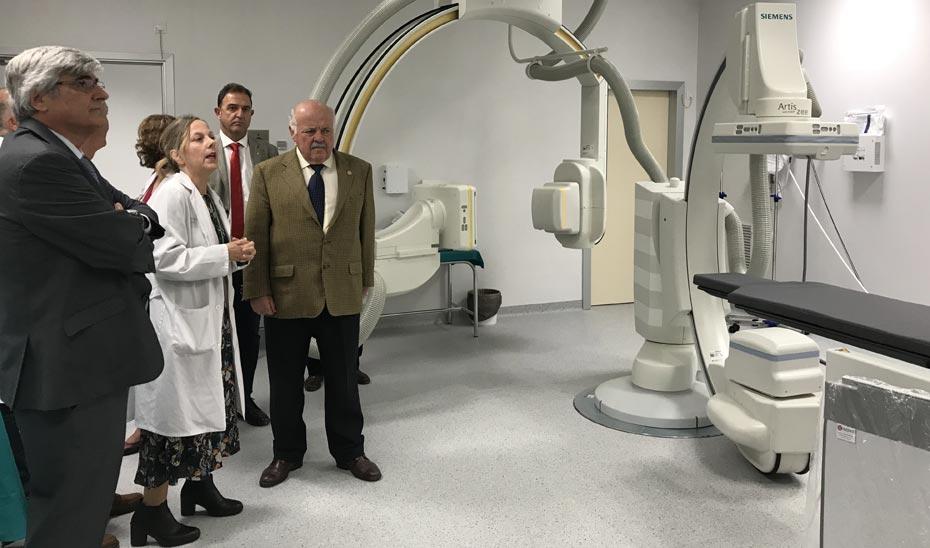 Jesús Aguirre, en su reciente visita al Hospital.