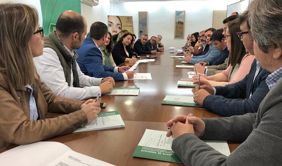 La consejera de Agricultura, Carmen Crespo, en la reunión con las empresas agroalimentarias de Jaén