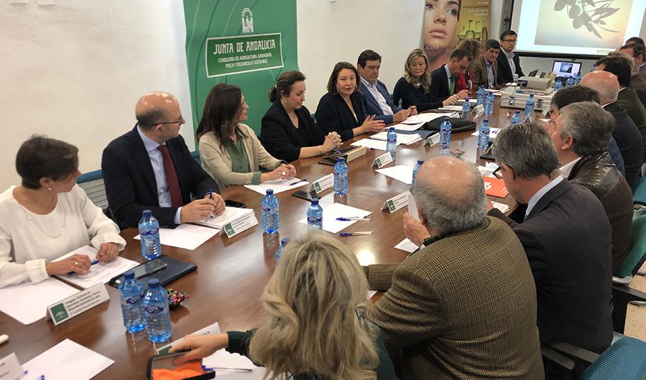 La consejera de Agricultura, Carmen Crespo, en Consejo Andaluz del Olivar