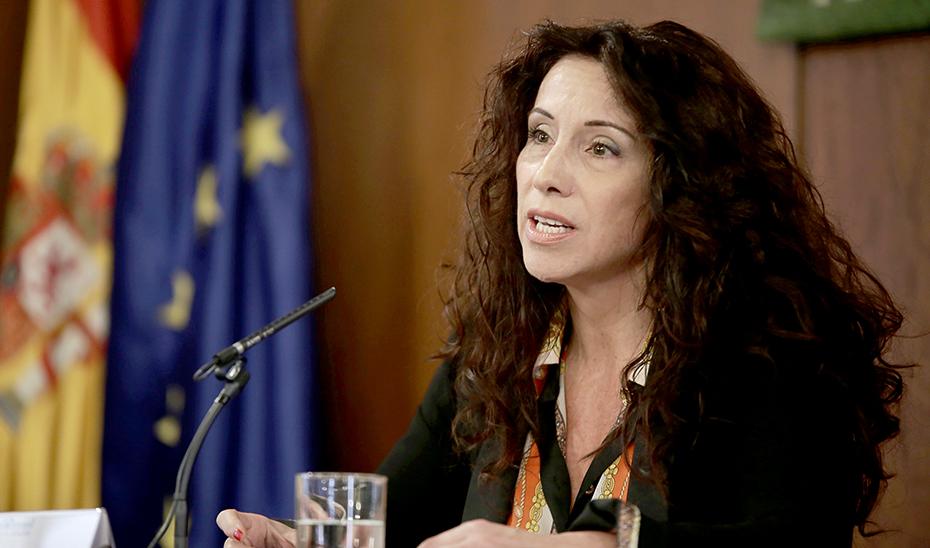 Rocío Ruiz, durante el acto conmemorativo del Día Mundial de las Enfermedades Raras en el Parlamento