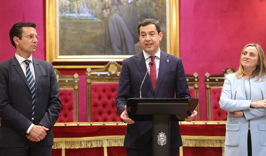 Intervención del presidente de la Junta en el Ayuntamiento de Granada