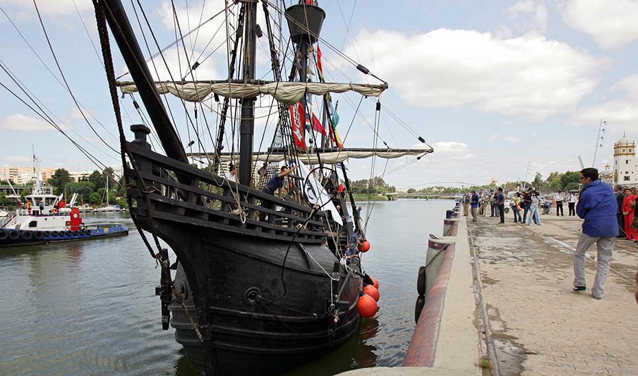 La réplica de la Nao Victoria, en la que Magallanes y Elcano emprendieron la primera vuelta al mundo.