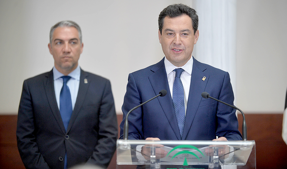 Intervención de Juanma Moreno tras la firma del protocolo de colaboración con Ceuta y Melilla