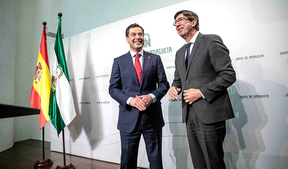 Comparecencia informativa de Juanma Moreno y Juan Marín tras la reunión del Consejo de Gobierno (audio íntegro)