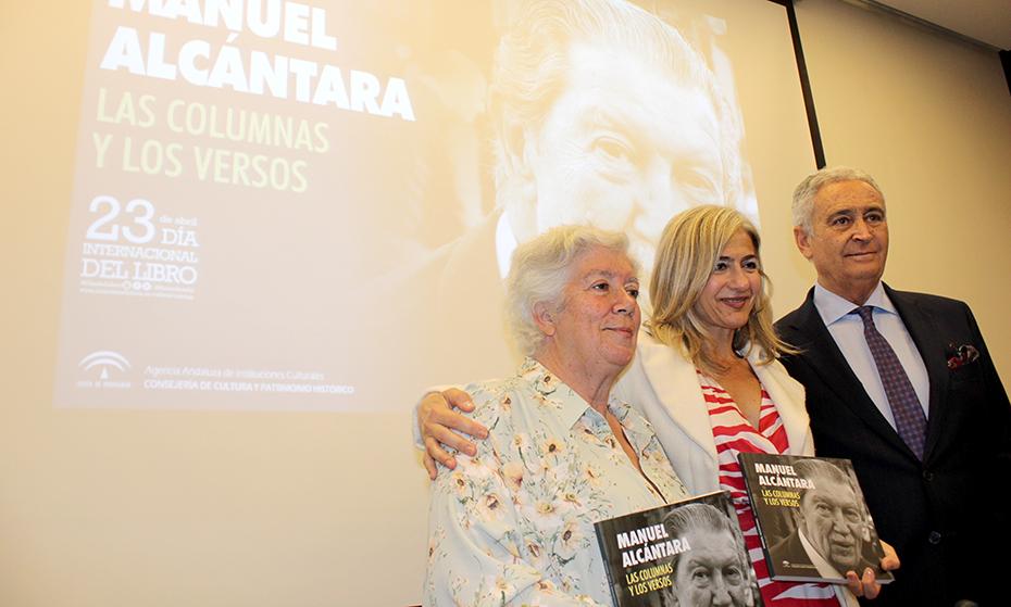 La consejera de Cultura, Patricia del Pozo, en el homenaje del Centro Andaluz de las Letras a Manuel Alcántara por el Día del Libro.