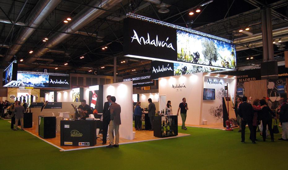 Stand de Andalucía en la pasada edición del Salón Gourmets.