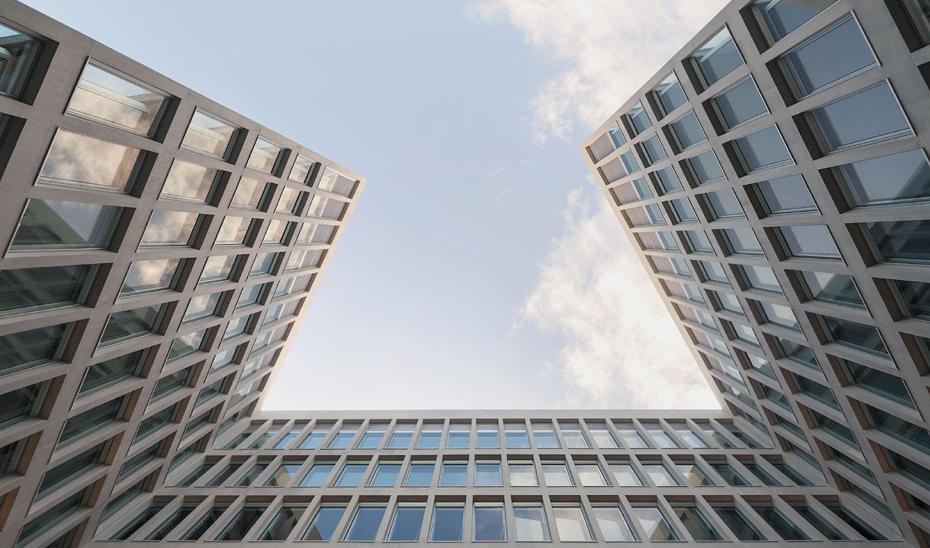Detalle del edificio de oficinas de la Consejería de Fomento premiado por la BEAU.
