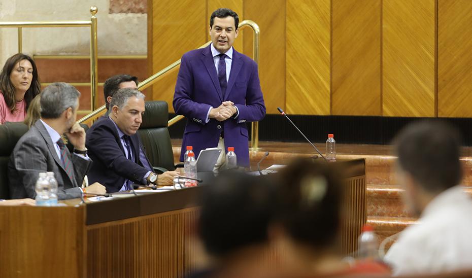 Moreno afirma que los Presupuestos harán de Andalucía una tierra atractiva para generar riqueza y crear empleo