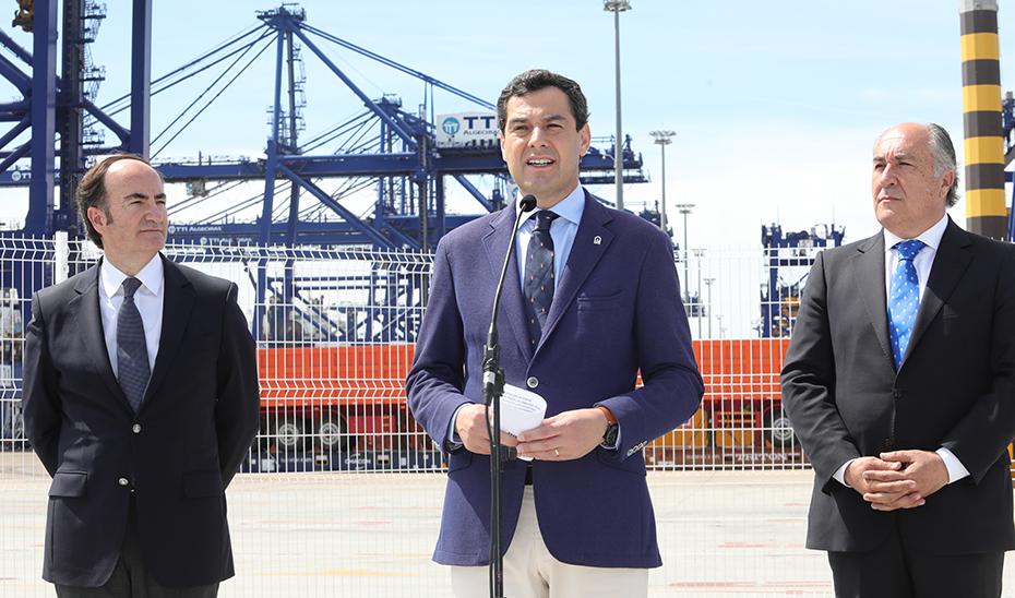 Intervención del presidente de la Junta en su visita institucional al Puerto de Algeciras
