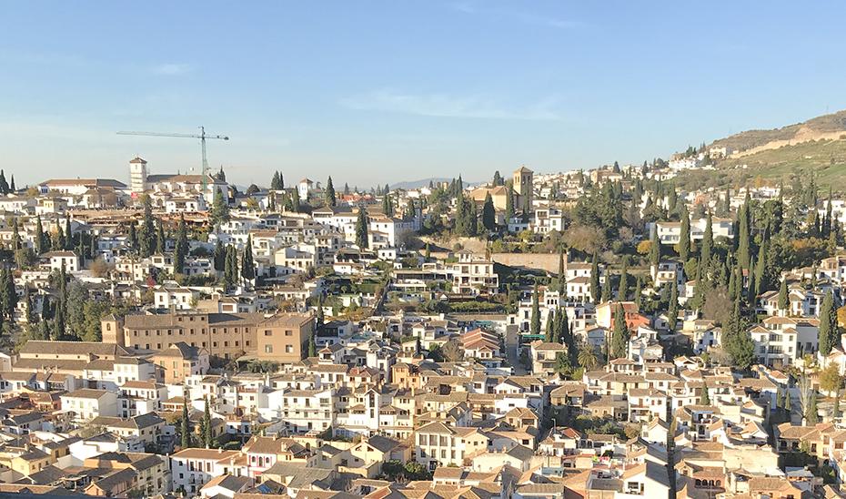 Vista general de la ciudad de Granada.