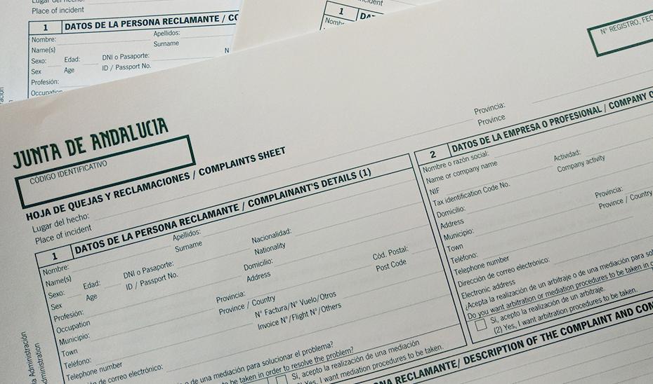 La inspección verificará las hojas de quejas y reclamaciones.
