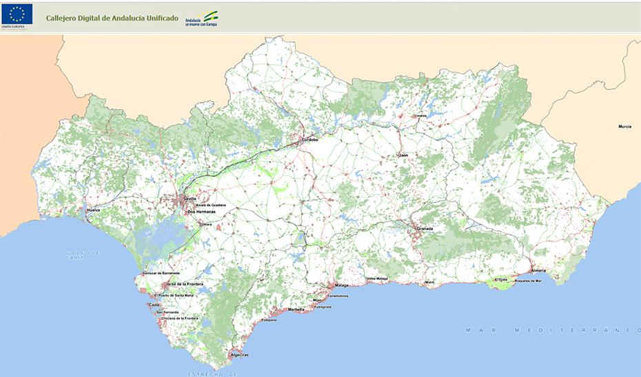 El Callejero De Andalucia Amplia El Mapa Con Mas De 800 Nucleos