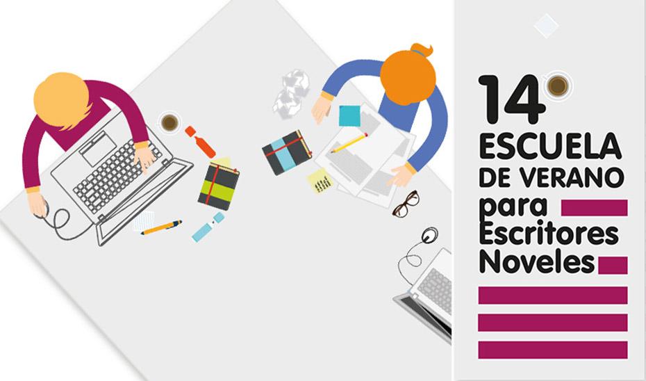 Cartel de la XIV Escuela de Verano para Escritores Noveles organizada por el Centro Andaluz de las Letras.