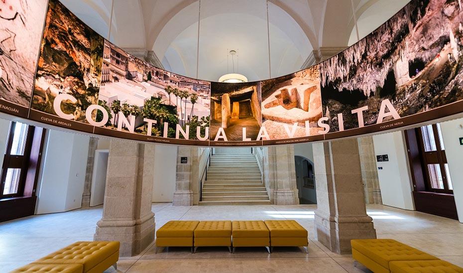 Interior del Museo de Málaga, que ha rozado las 40.000 visitas durante el primer trimestre del año.