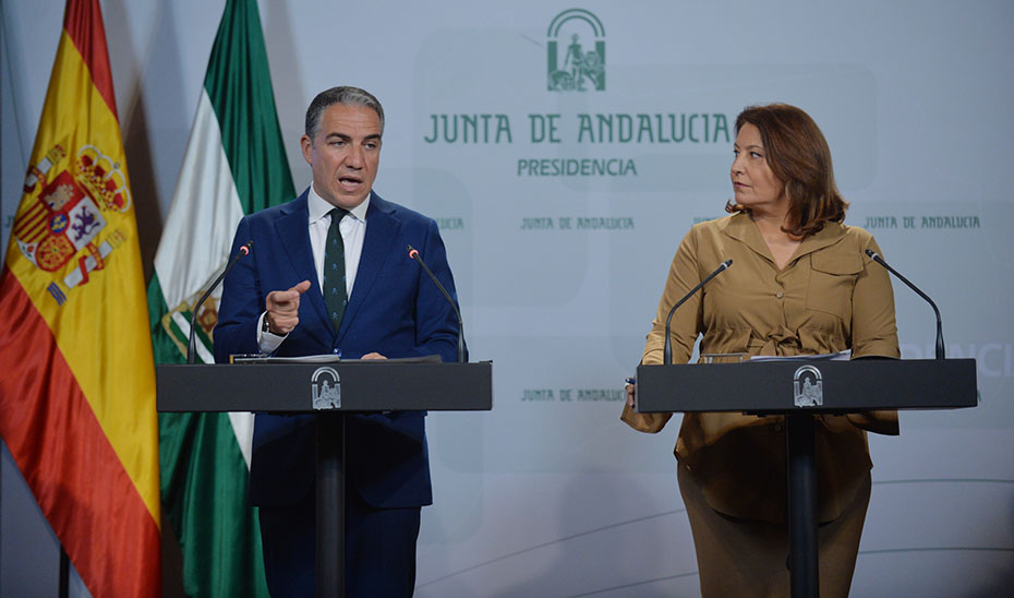 Elías Bendodo y Carmen Crespo comparecen tras el Consejo de Gobierno (vídeo íntegro)