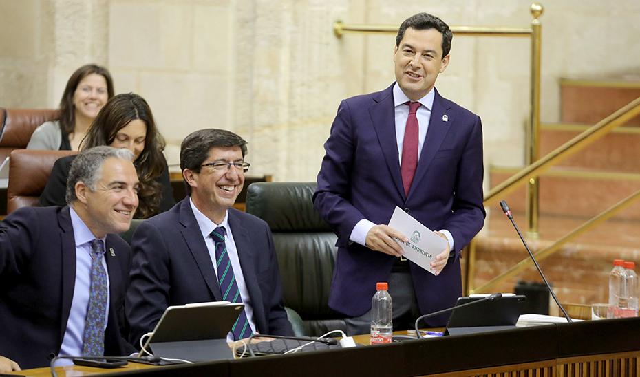 Moreno señala que el acuerdo de los Presupuestos es fruto del diálogo, la responsabilidad y la altura de miras