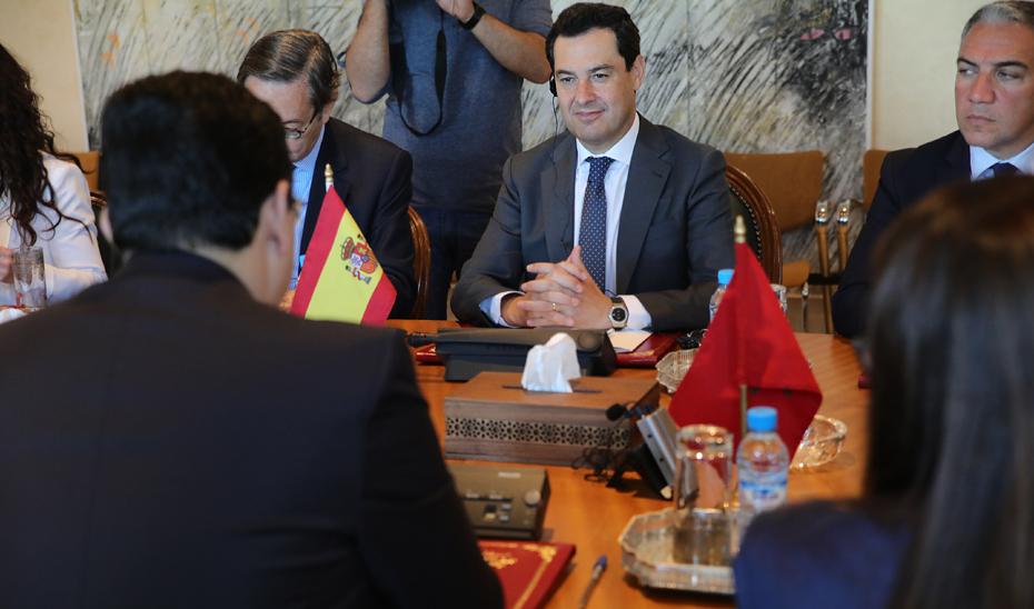 Moreno reivindica que las autoridades europeas miren a Andalucía y Marruecos