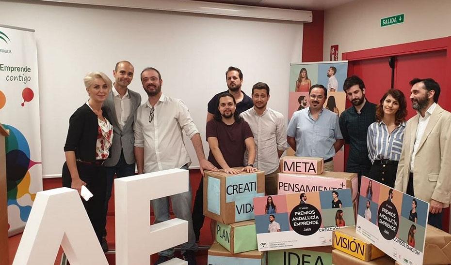 Finalistas seleccionados en Jaén durante la primera fase de la VI edición de Premios Andalucía Emprende.