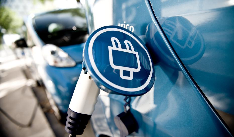 Punto de recarga para los vehículos eléctricos.