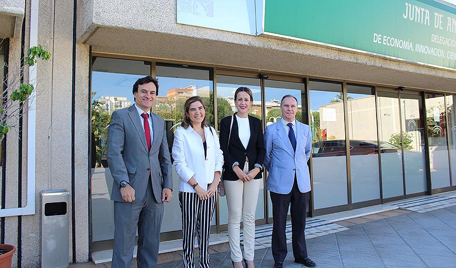 La consejera de Empleo, Formación y Trabajo Autónomo, Rocío Blanco, este martes en Huelva.