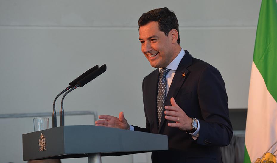 Intervención del presidente de la Junta, Juanma Moreno, en el acto inaugural del AVE a Granada