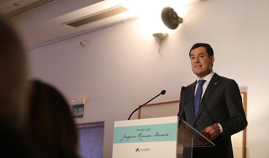 Intervención del presidente de la Junta en la entrega del XIX Premio Joaquín Romero Murube de ABC de Sevilla