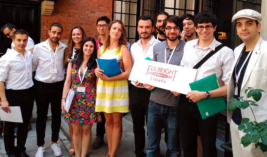 Becarios españoles de la última convocatoria del programa de ayudas Fulbright.