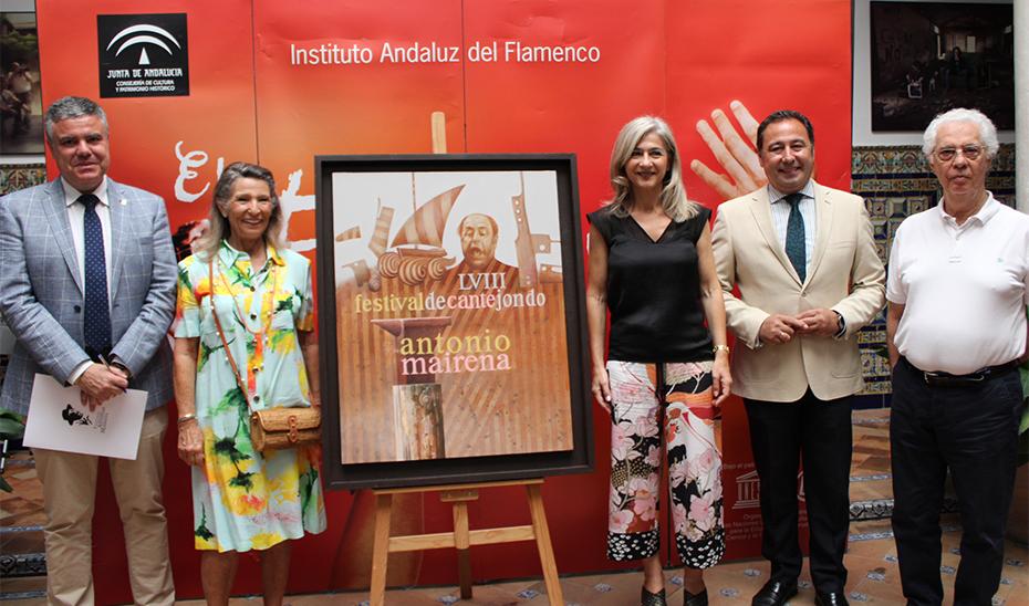 La consejera de Cultura, durante la presentación de la 58º edición del Festival Antonio Mairena