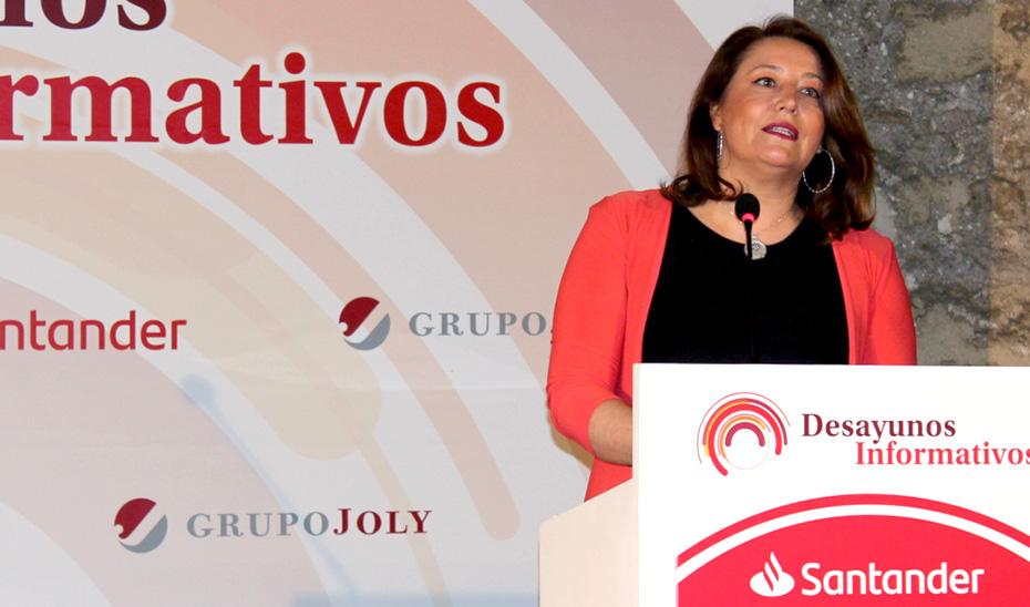 La consejera Carmen Crespo, durante su intervención en el foro del Grupo Joly.