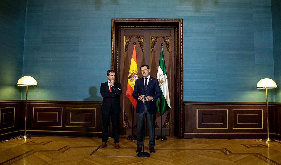 Intervención del presidente tras recibir en San Telmo al alcalde de Jaén