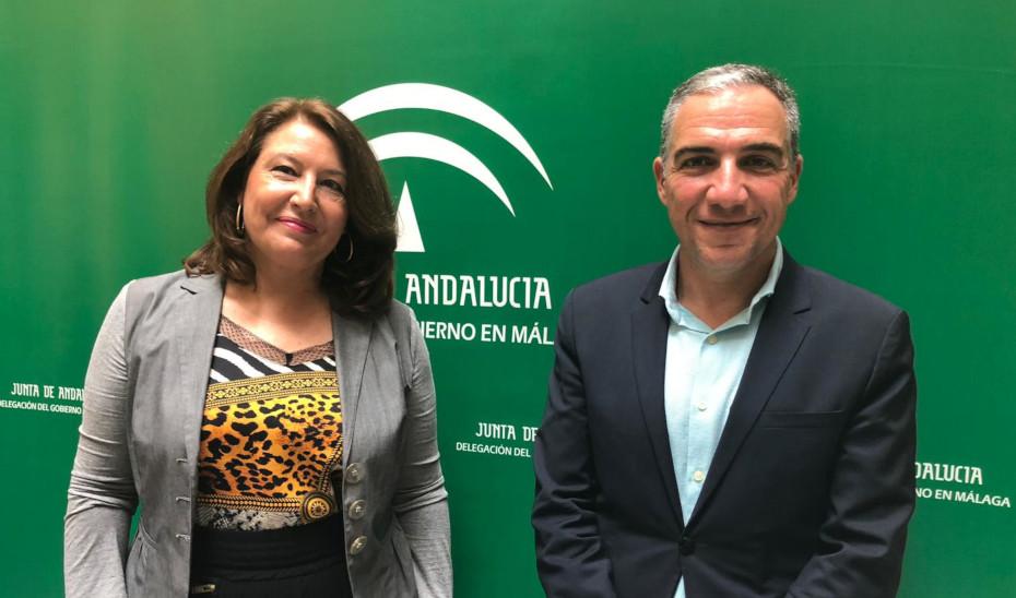 Elías Bendodo y Carmen Crespo, en Málaga.