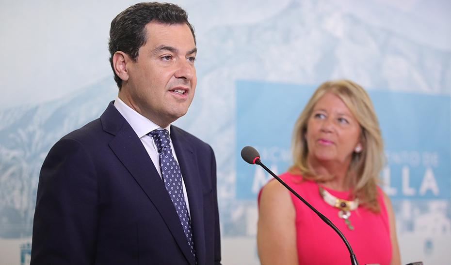 Intervención del presidente en la visita al Ayuntamiento de Marbella