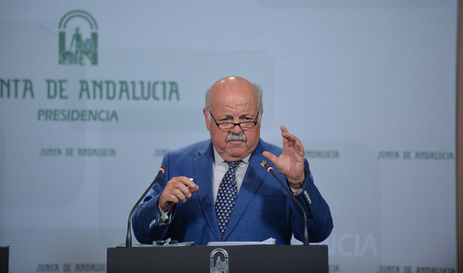 Jesús Aguirre detalla el estado de las listas de espera quirúrgica en Andalucía a 30 de junio