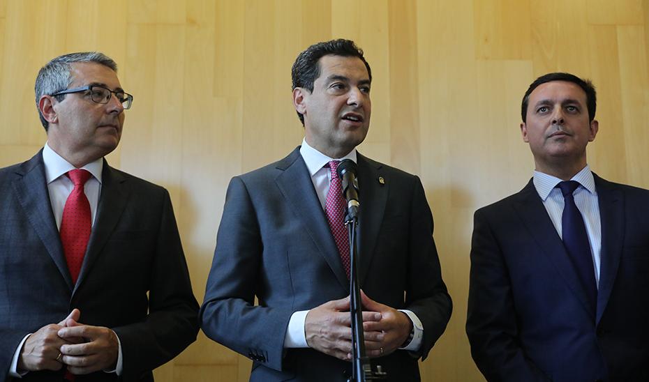 Intervención de Juanma Moreno en el acto de toma de posesión de Francisco Salado como presidente de la Diputación de Málaga
