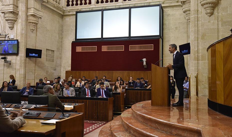 Intervención de Juan Bravo tras la aprobación de la Ley del Presupuesto de Andalucía para 2019