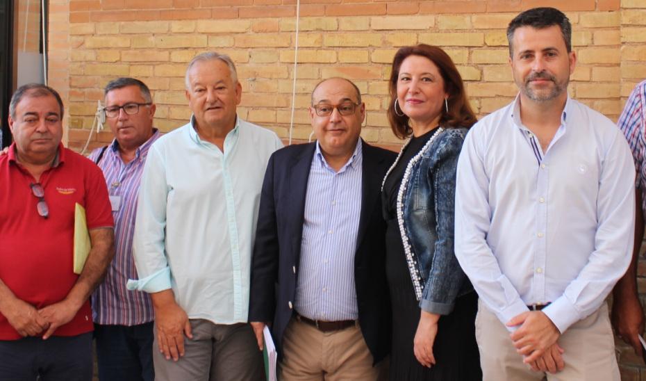 La consejera de Agricultura, Ganadería, Pesca y Desarrollo Sostenible, Carmen Crespo, este martes con los armadores.